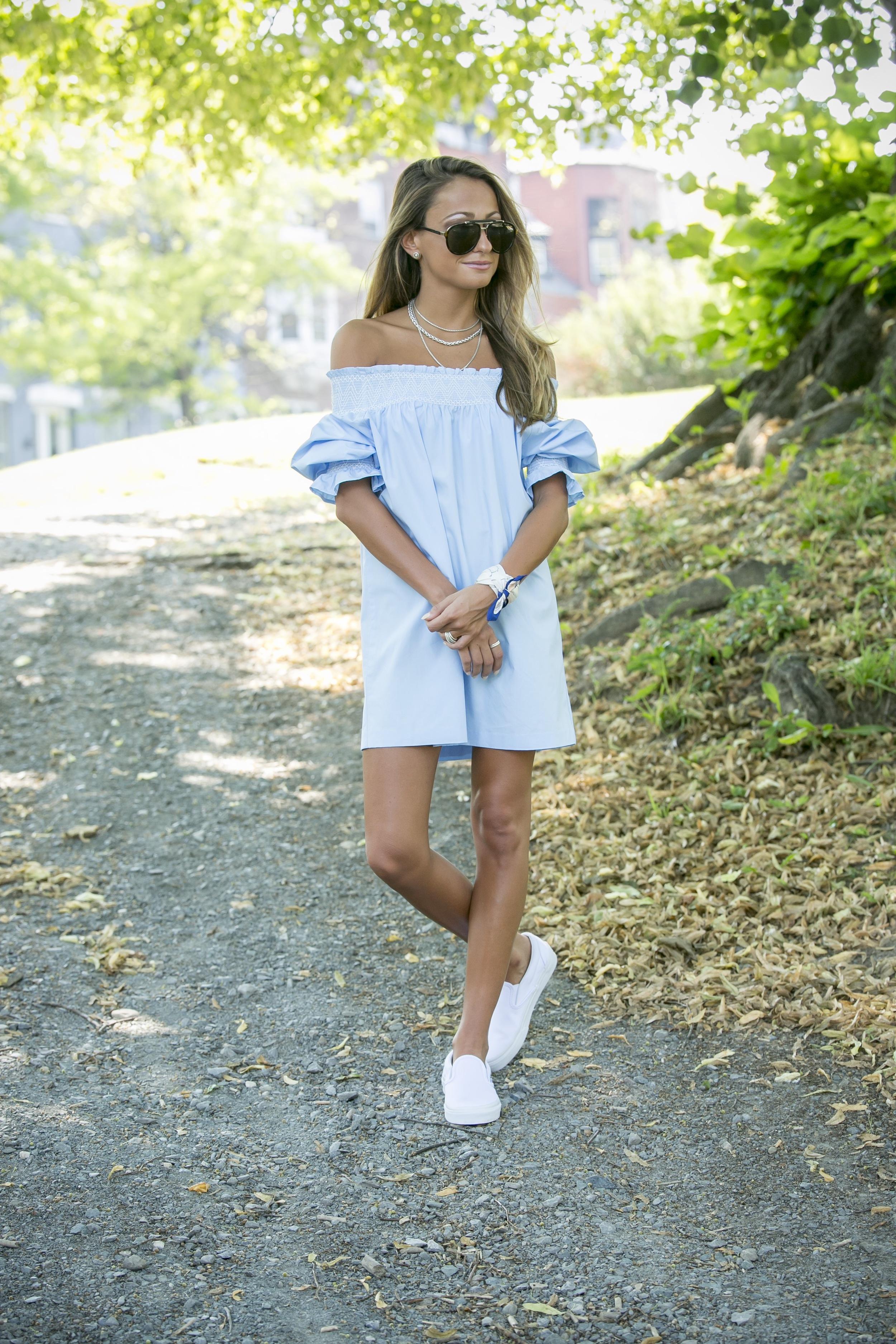 Dress:Zara( similar )|Sneakers: Vans |Scarf: Club Monaco     Dino Petrocelli Photography