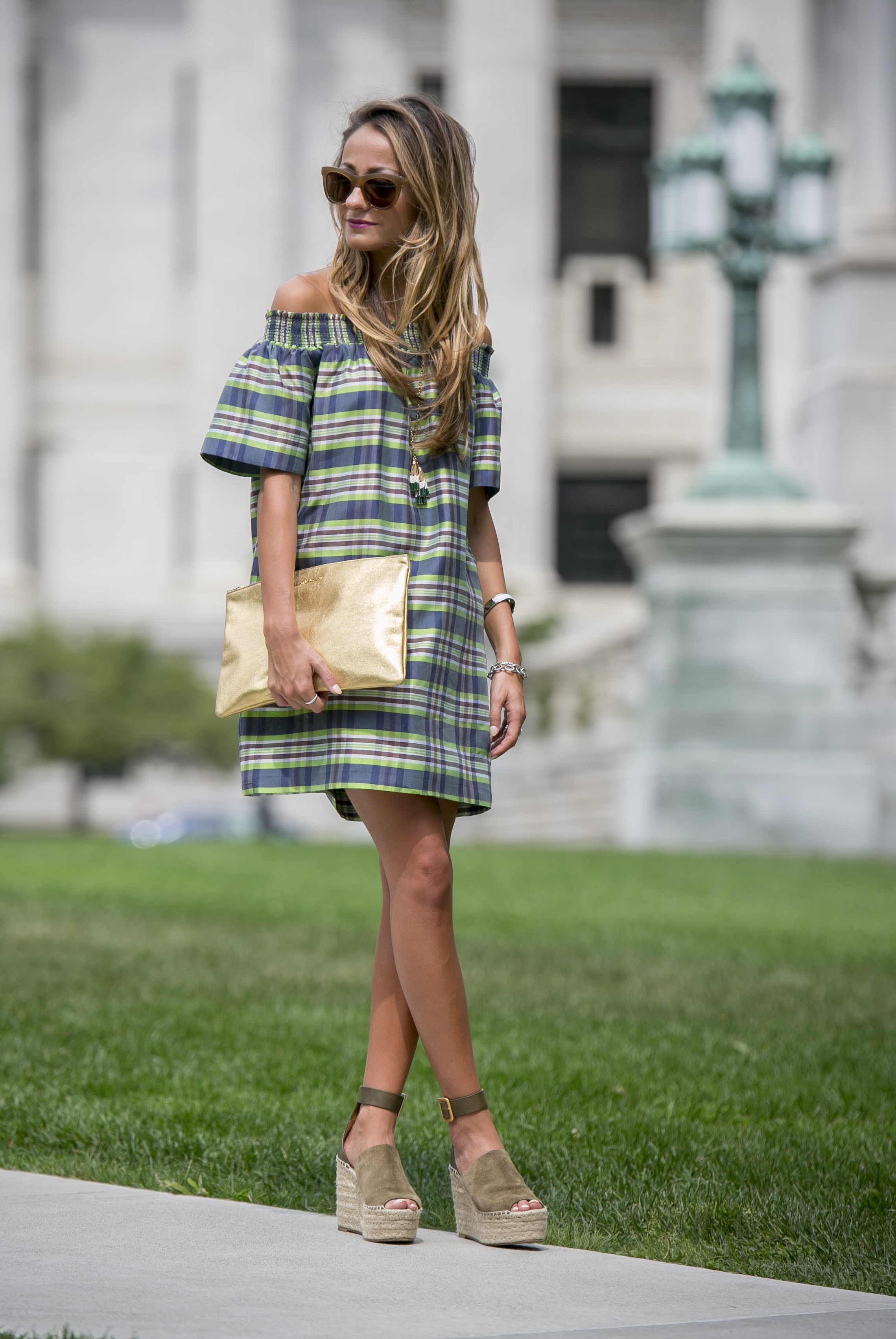 jcrew madras dress