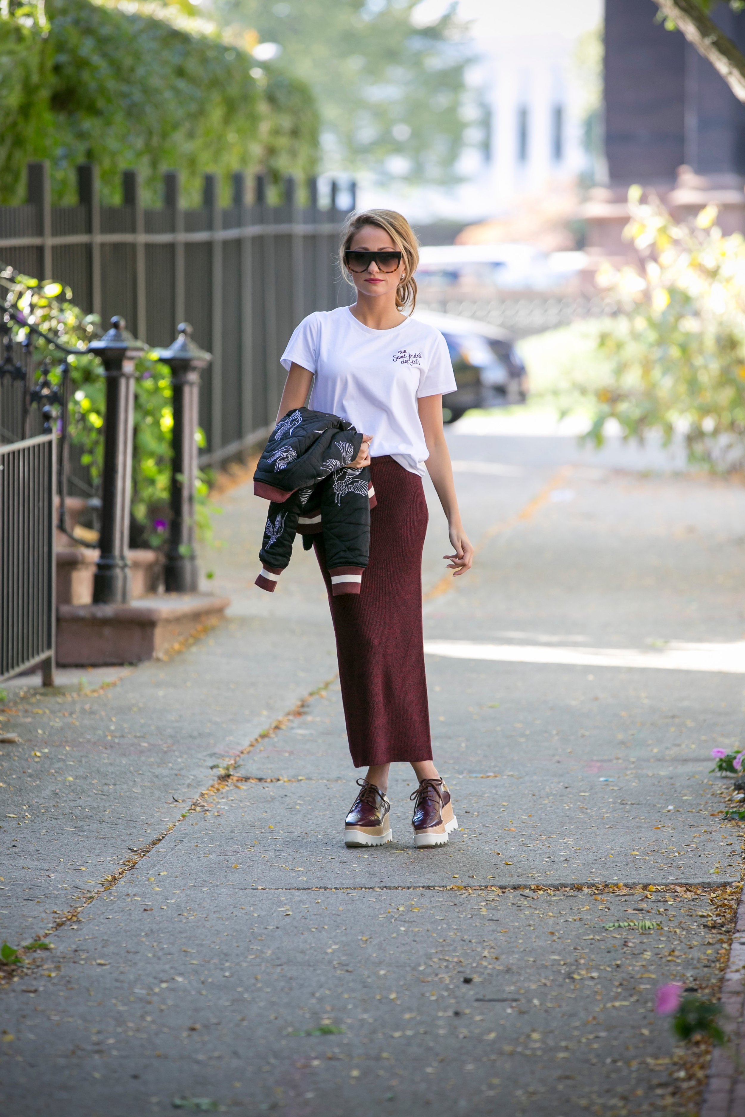 Lauren Recchia the founder of the fashion blog North of Manhattan during fashion month