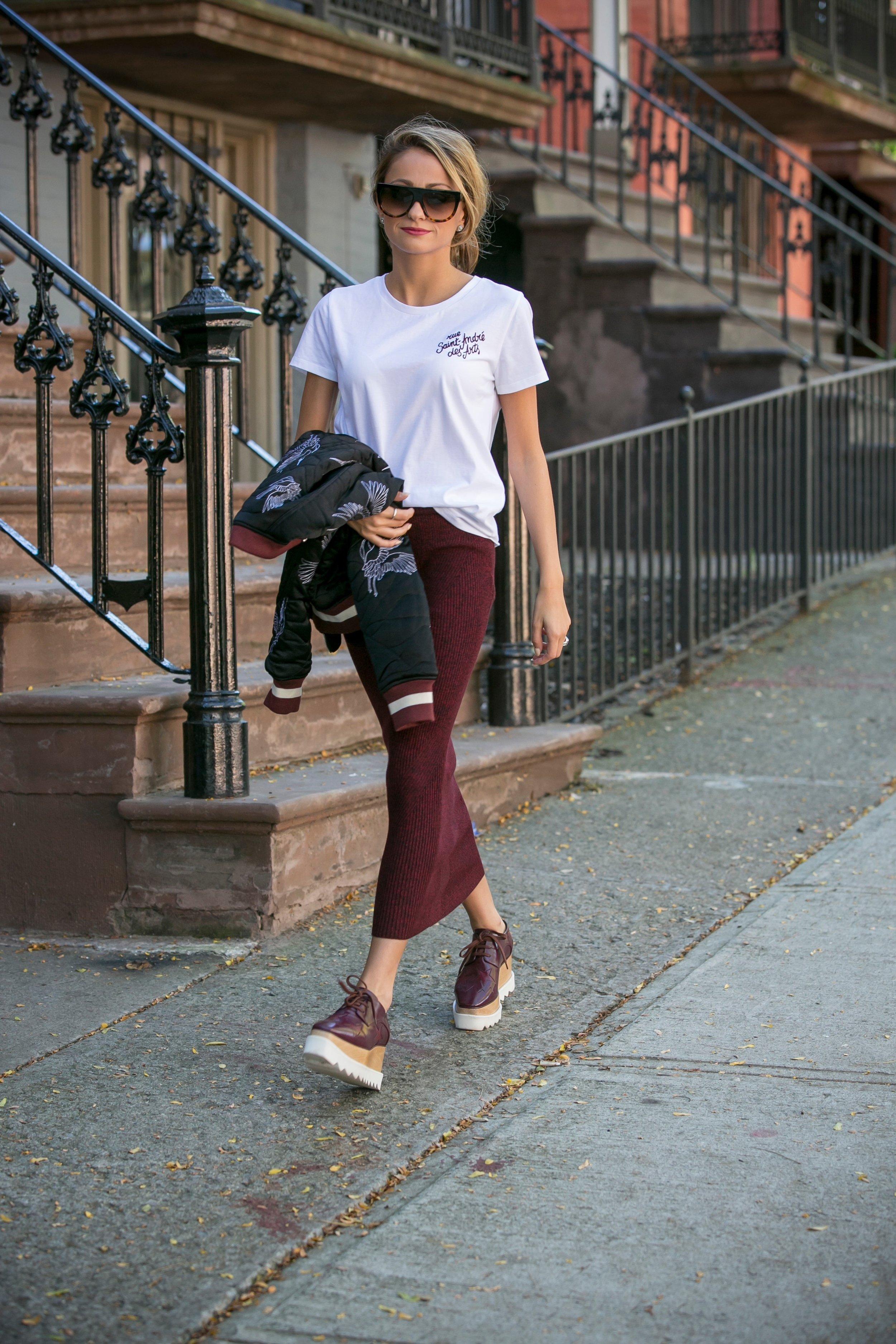 Maje: Tee ,  Skirt , Bomber|: Sandro Paris |Shoes: Stella McCartney |Sunnies:Celine    Dino Petrocelli Photography