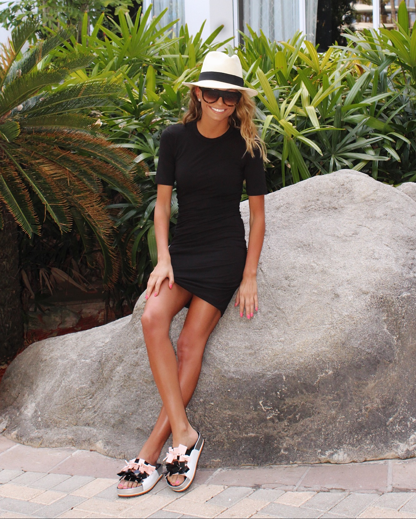 T by Alexander Wang dress  ,   Kat Maconie Sandals