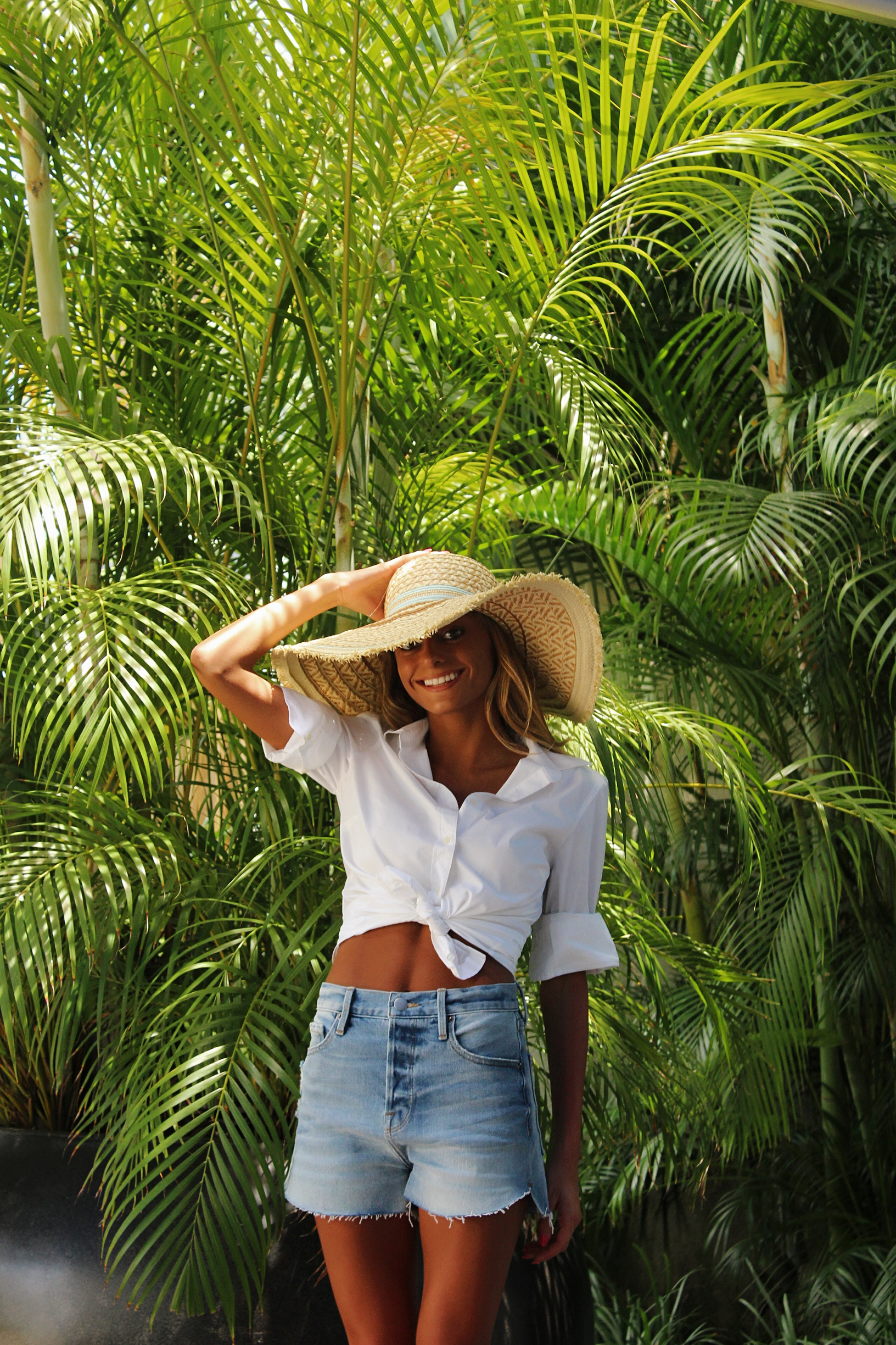 Frame Denim Shorts |Bought this hat in Aruba!