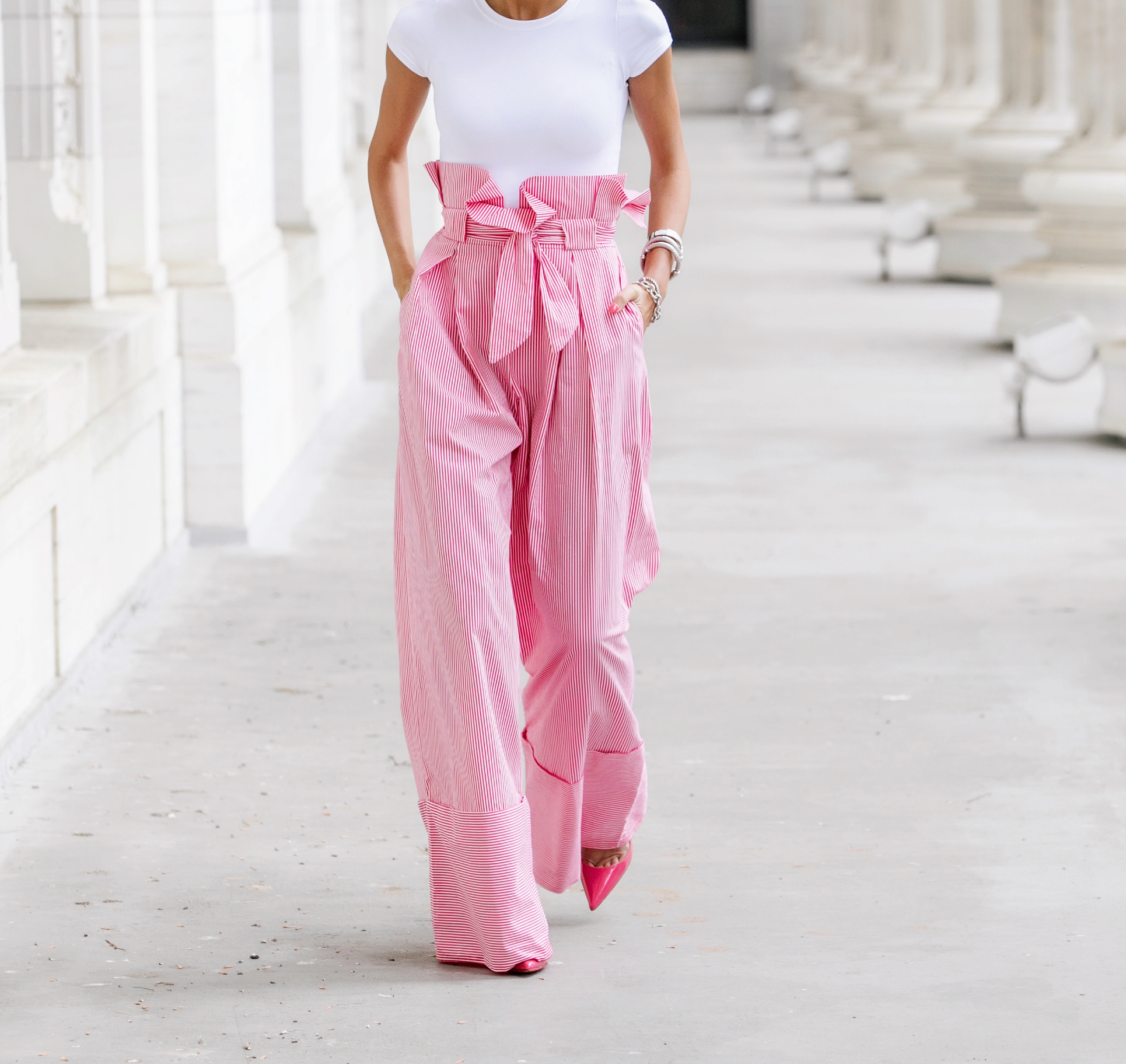 Trousers:Zara|Bodysuit:Theory|Pumps:Christian Louboutin|Headband:Zara    Dino Petrocelli Photography