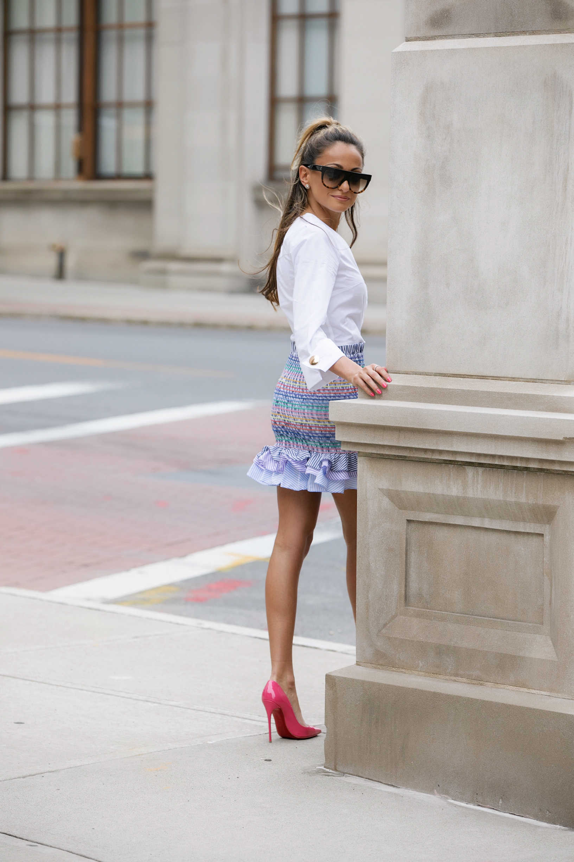 Top:J.O.A.|Skirt: Petersyn |Pumps: Christian Louboutin     Dino Petrocelli Photography
