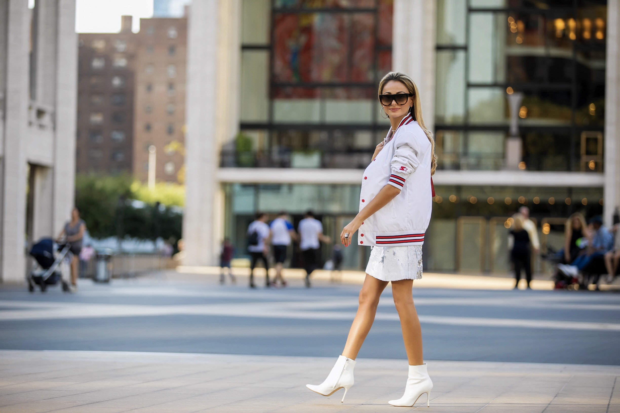 Starter the Label, Designer Remix, and Manolo Blahnik worn at Lincoln Center in New York City