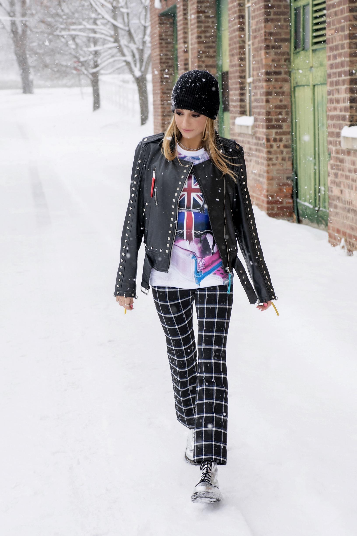 punk-like fashion