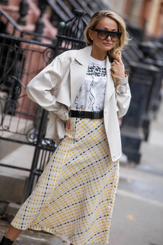 Tee: Noir Kei Ninomiya |Jacket: Tibi |Skirt:Zara|Boots: Saint Laurent |Belt: Isabel Marant |Sunnies: Celine     Dino Petrocelli Photography