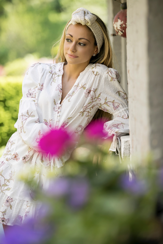floral dresses trending for spring and summer as seen on Lauren Recchia