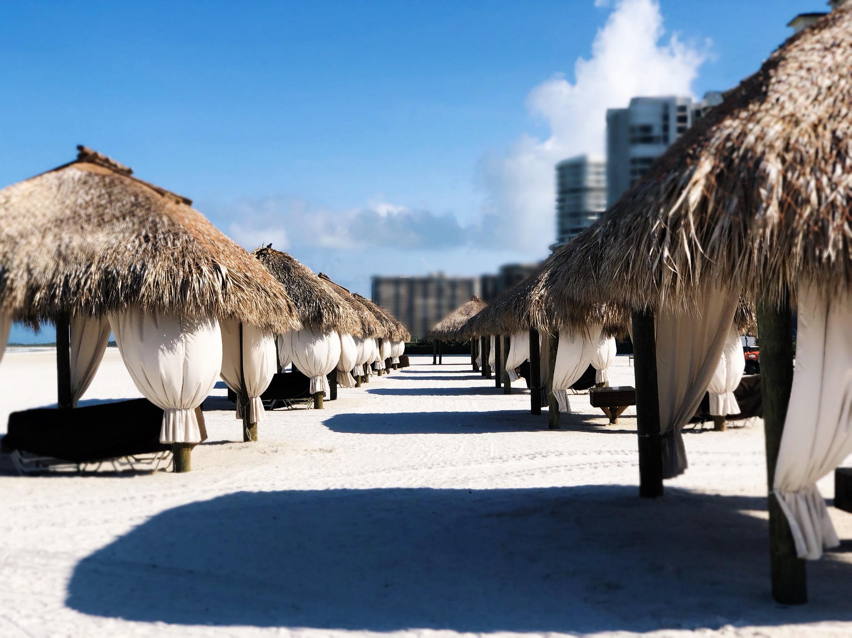 beach huts JW Marriott