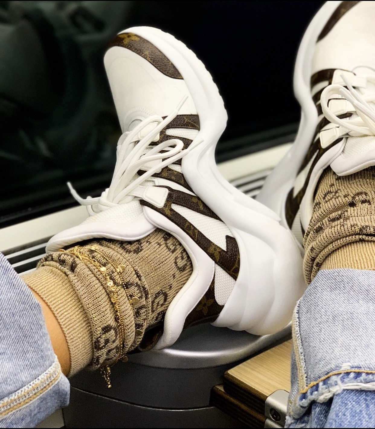 Gucci   Socks  |Louis Vuitton Sneakers| Forever21   Anklets