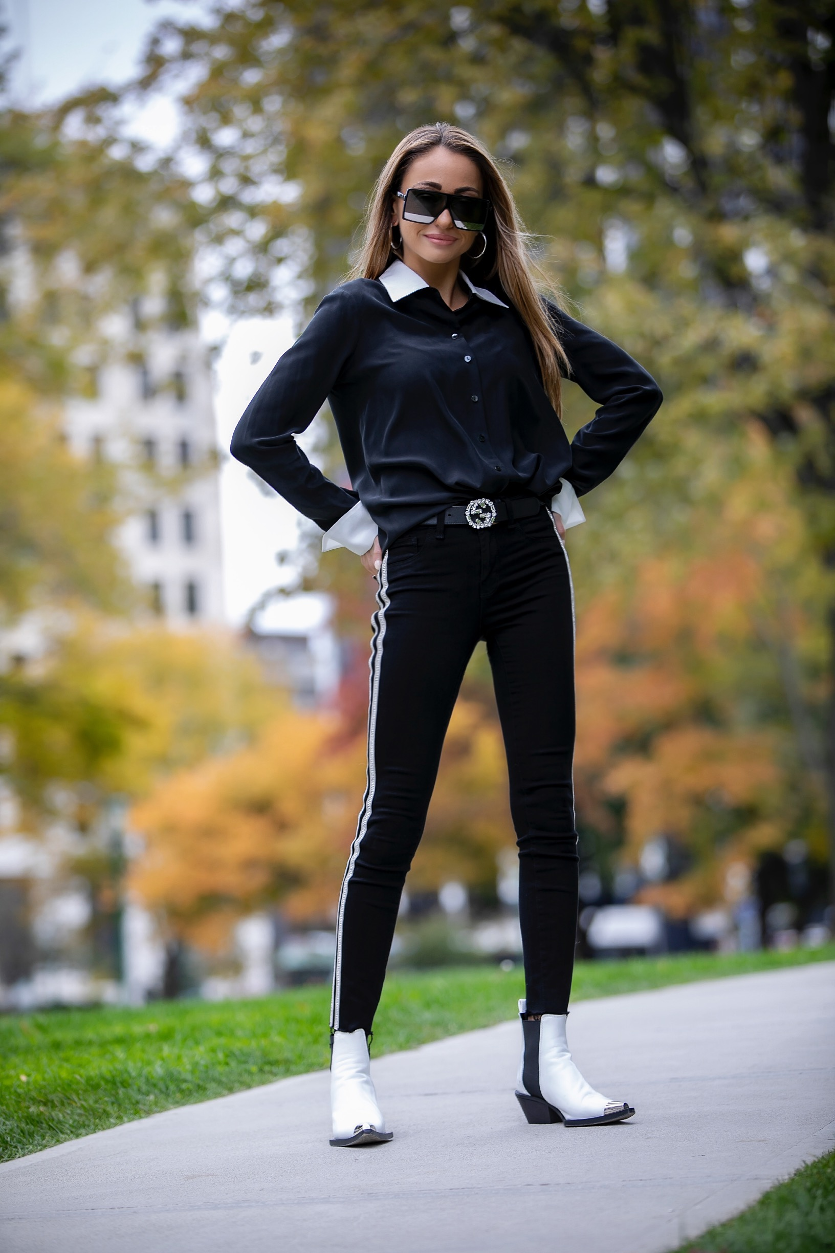 NYC streetstyle in a full L'Agence look