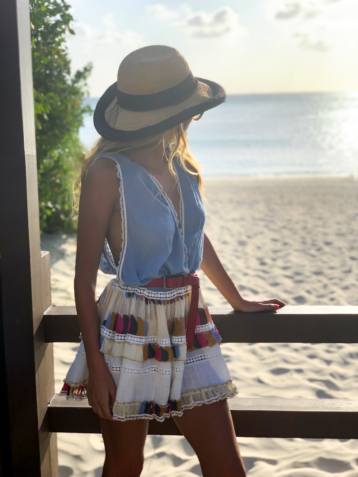 Chio Swimwear Dress (  similar here  )| Belt:  Brave Leather