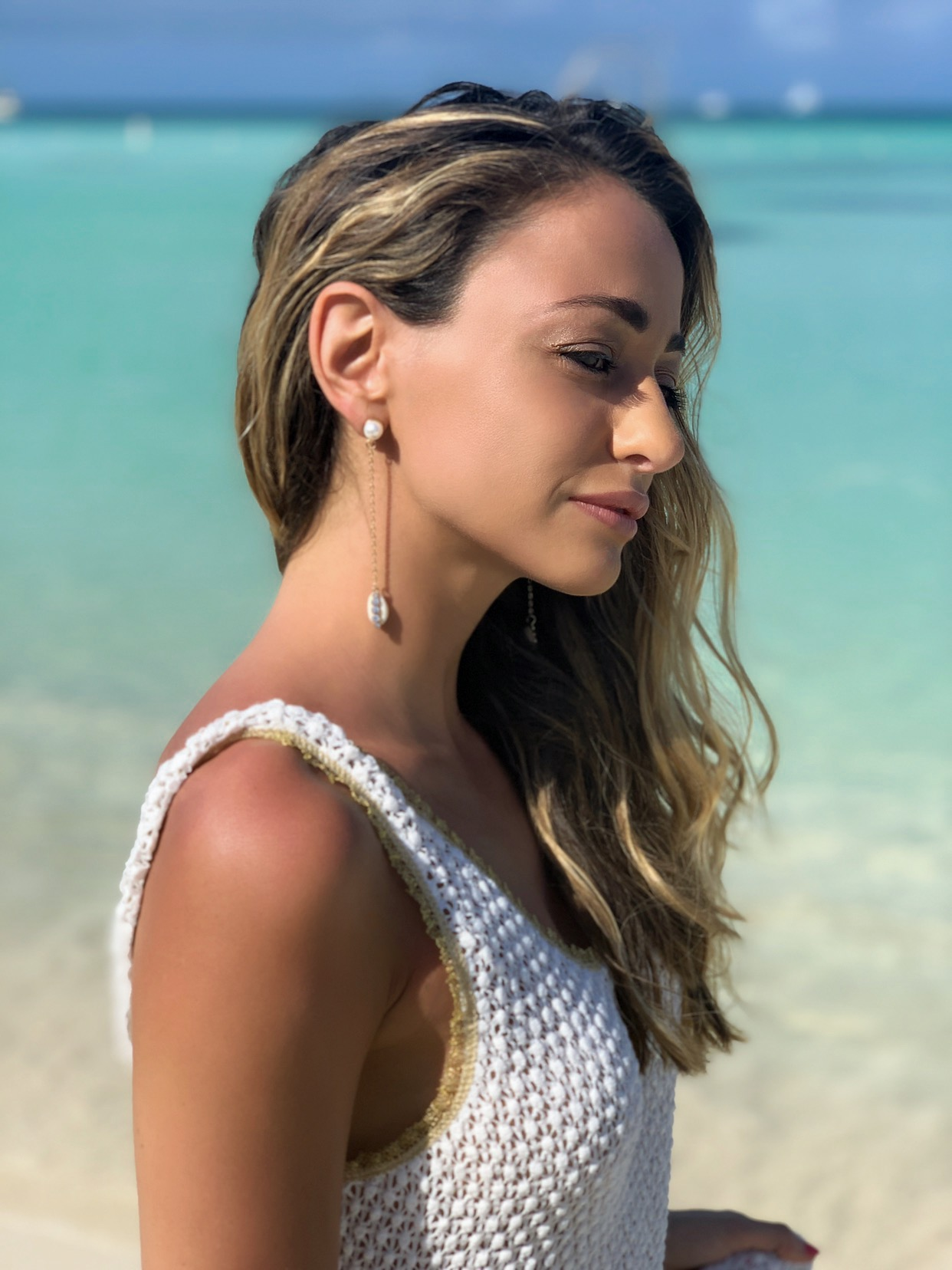 Dress:   CHIO  | Jewelry:  Zaxie by Stefanie Taylor