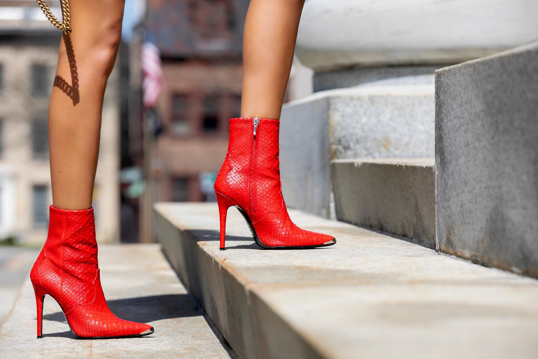 Amiri snakeskin embossed boots
