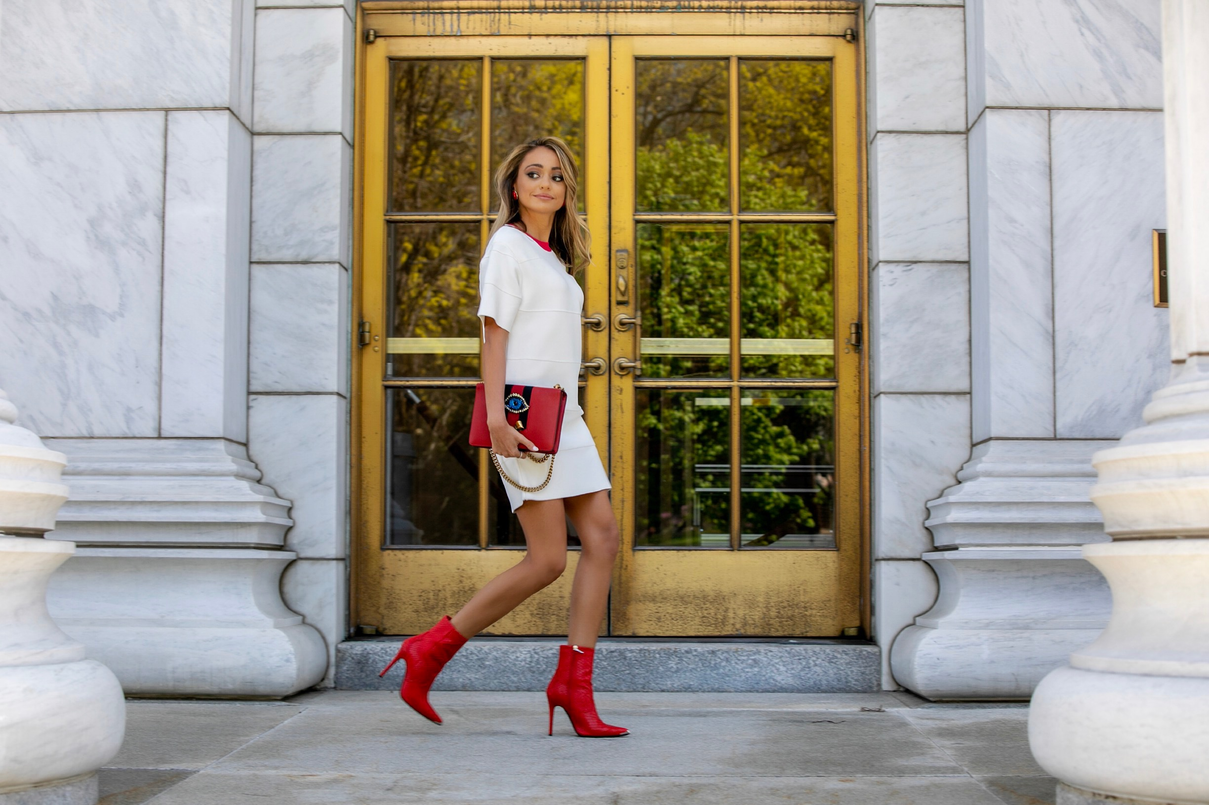 streetstyle by Lauren Recchia in Herve Leger, Gucci, and Amiri