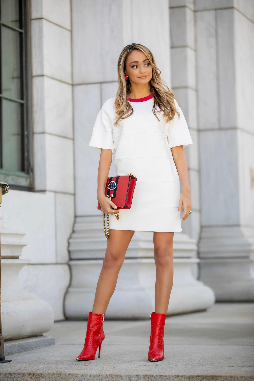 Dress:   Herve Leger Paris  | Boots:  Amiri  |Bag:Gucci (older)    Dino Petrocelli Photography