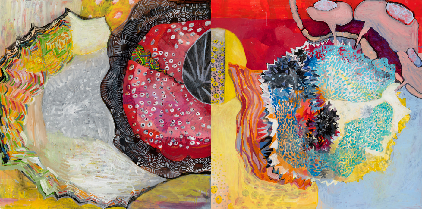 Behind my eyes (shown as diptych)