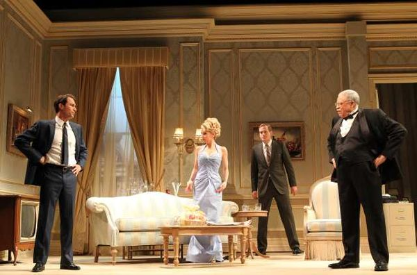 Eric McCormack (Joseph Cantwell), Kerry Butler (Mabel Cantwell), Corey Brill (Don Blades), & James Earl Jones (Arthur Hockstader)