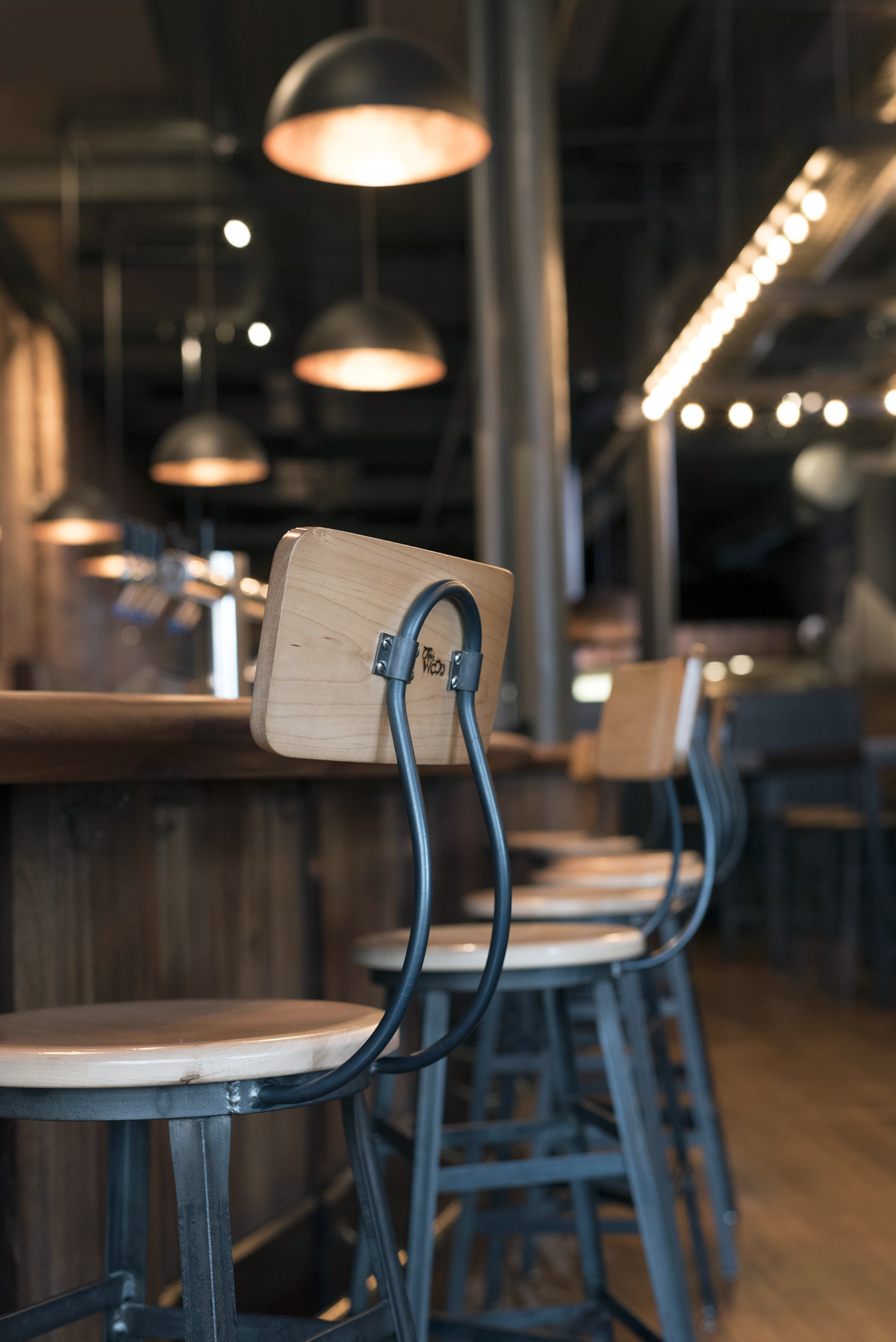Custom Barstools at the Pressroom Restaurant