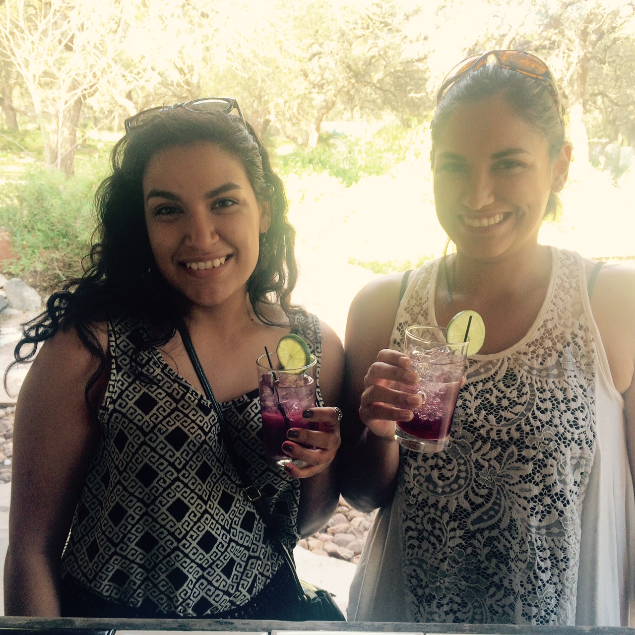 Happy customers enjoying our Blueberry Basil Gimlet at  The Inn at Wild Rose Hall  open house