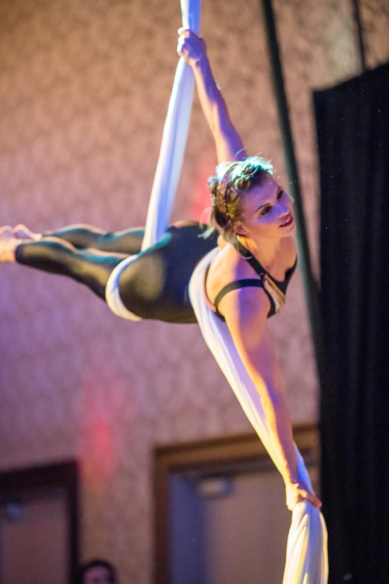 Rapt Aerial Performer Maya Kaough