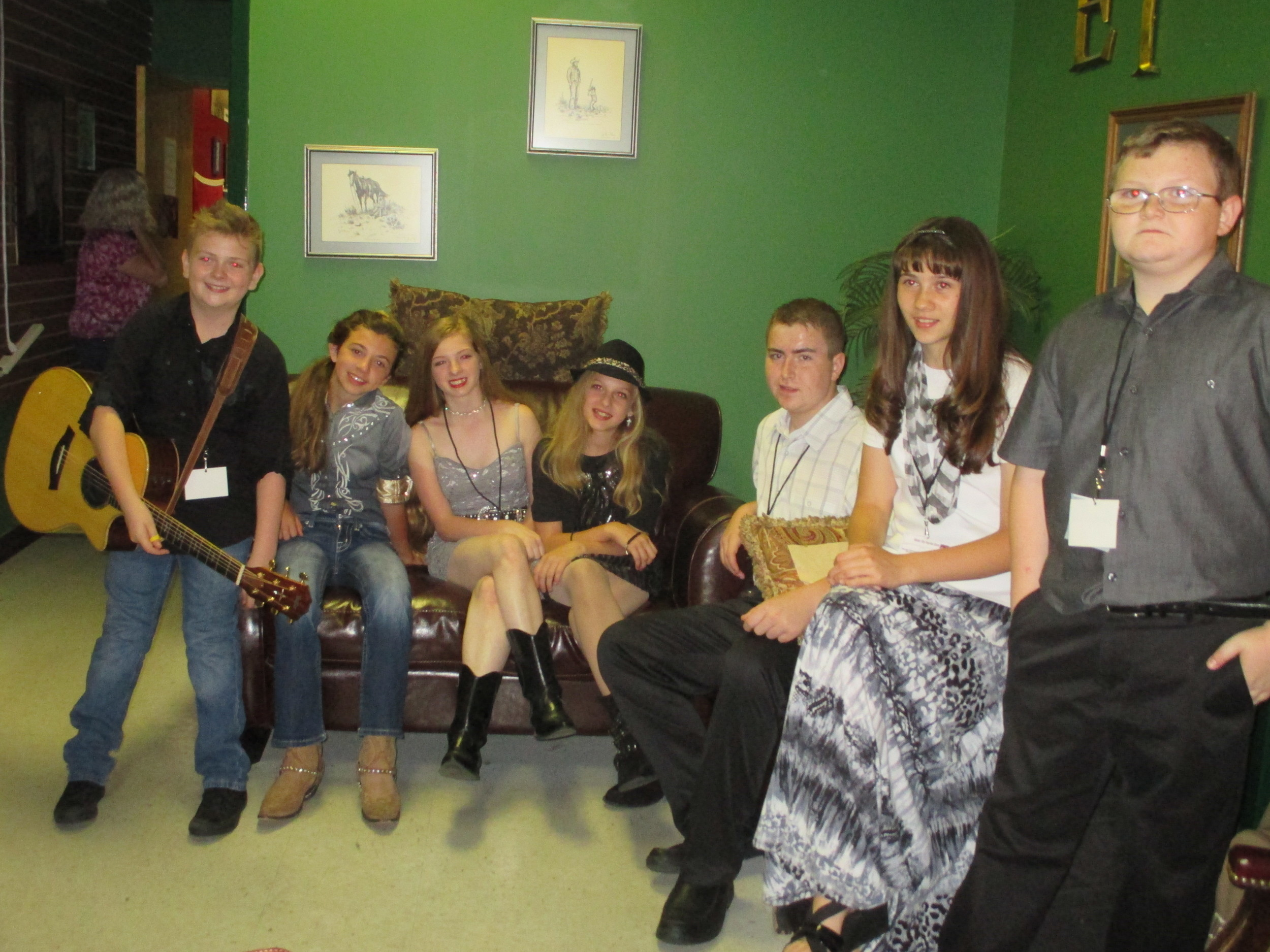 Meeting Some New Friends in the Green Room