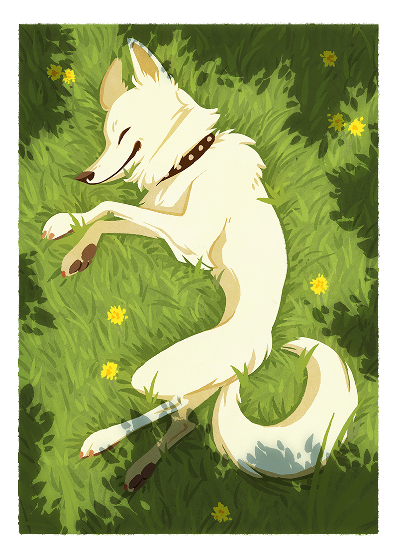 Submission for Wine and Zine's Doggo Charity Zine. Available  here .