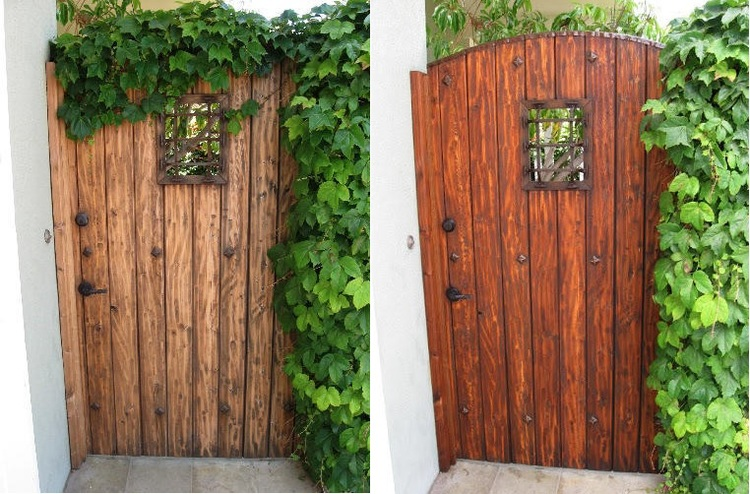 5. Redwood Gate - Before and After