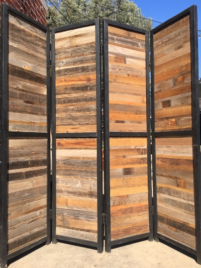 Room Divider - Reclaimed wood - Los Angeles