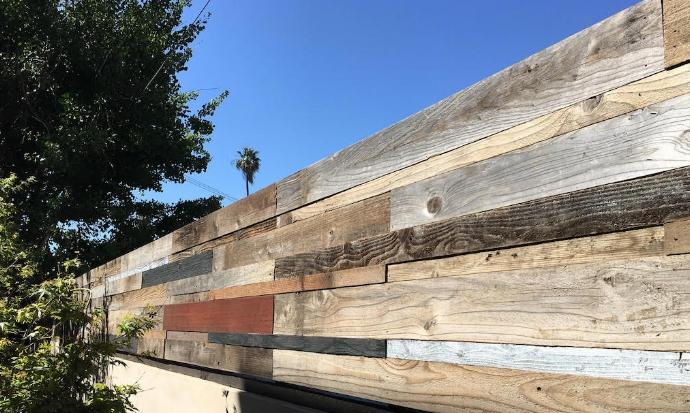 """Custom Reclaimed Wood Installation - Total Job 70 ft x 32"""" tall"""