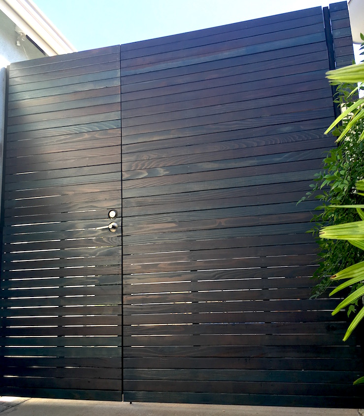 contemporary gate - wooden Venice Beach.jpg