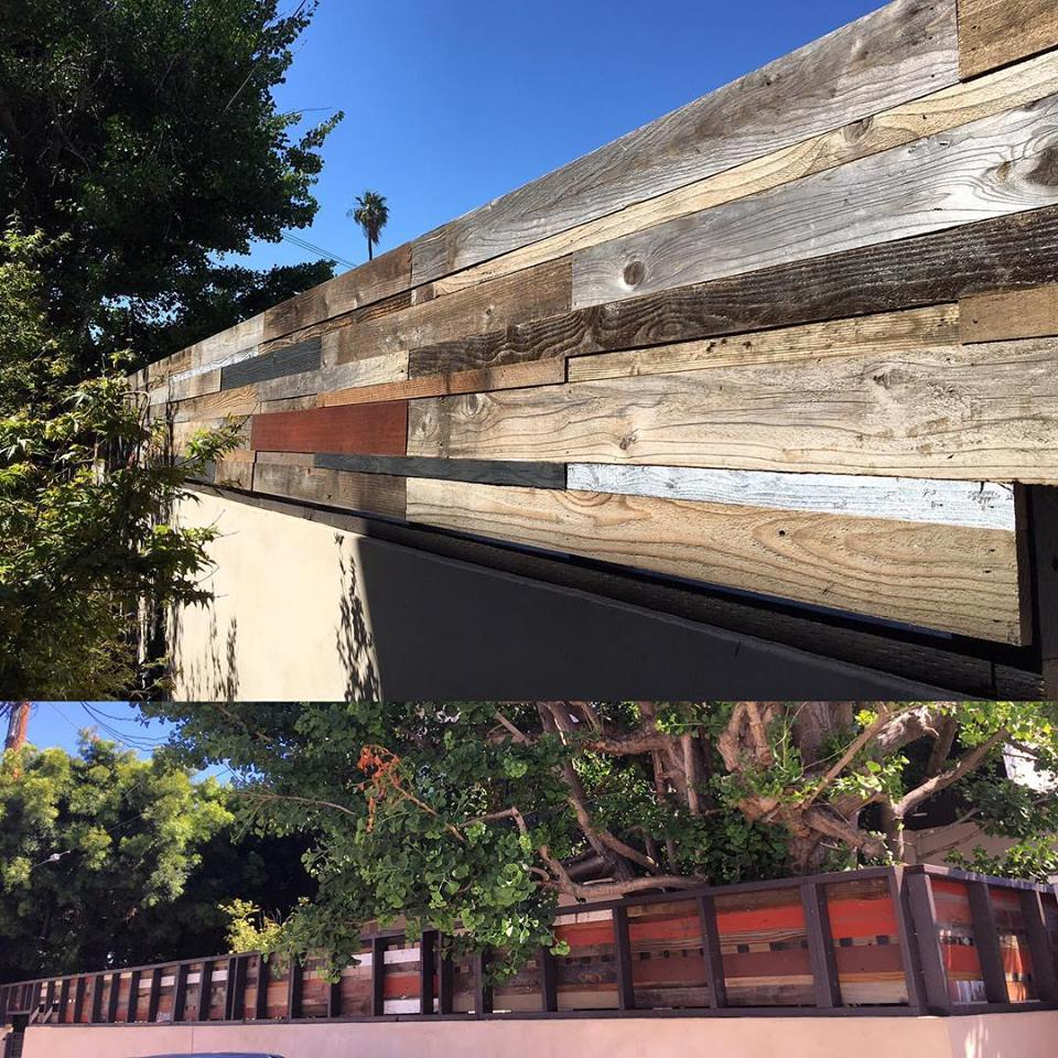 Reclaimed wood designer fence - Wall Topper