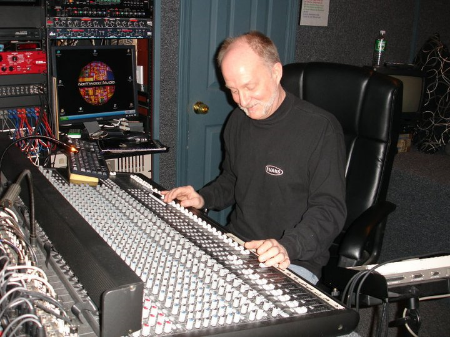 George Oakley at the controls, Northwood Studio,   Huntington, NY