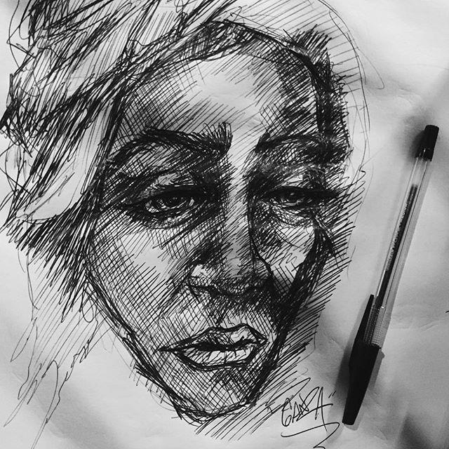 #ganzaart #sketchbook tonight's doodle... for now.