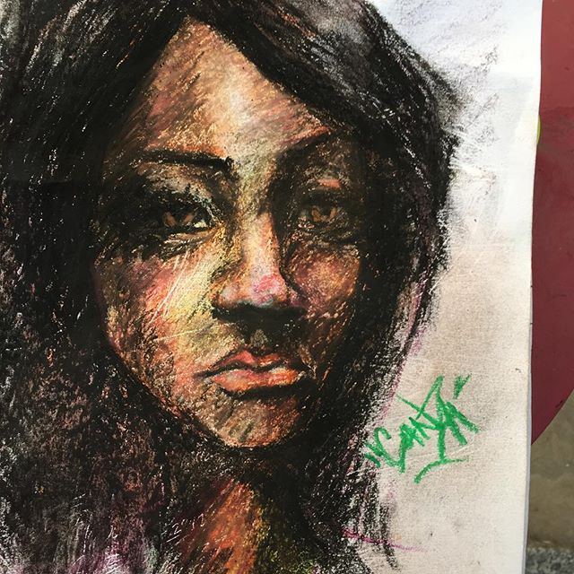 Today's #99centstore bust...#cheapartsupplies. 😂😂😂 #ganzaart  #ganza $2.00 set up #sketchbook #sketch #sketches #oilpastel
