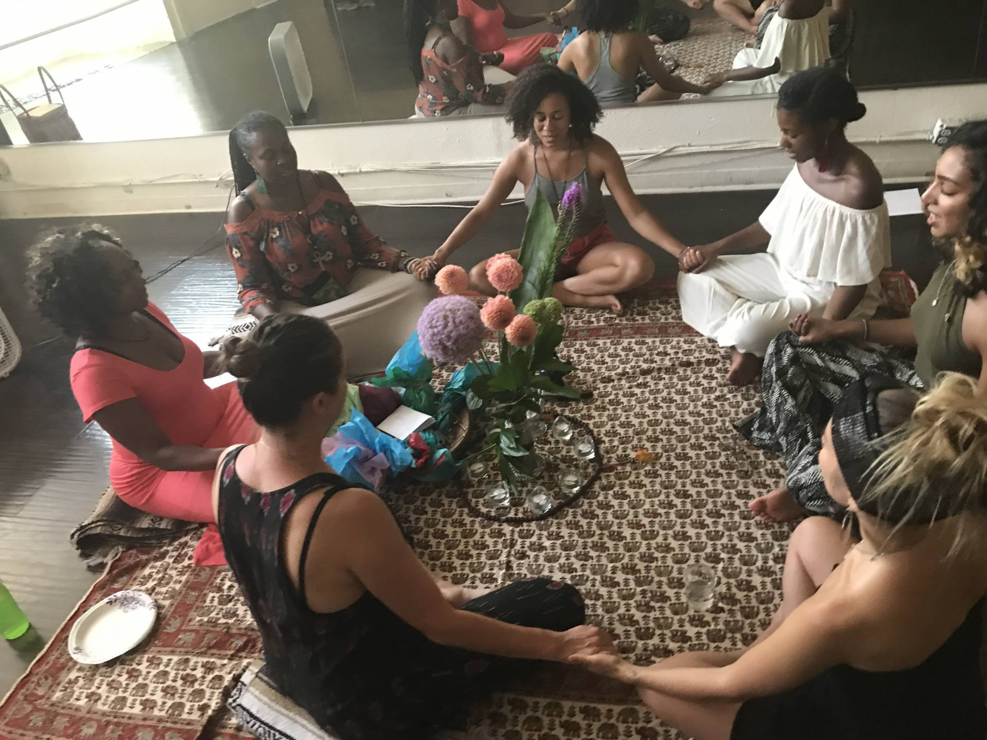 Our sacred sisterhood circles. Some of my most precious memories are of us gathered here in this circle. It's given me a taste of unconditional love.