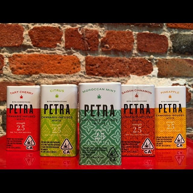 NEW PRODUCT ALERT 🚨 Petra mints @madebykiva are now available in 5 yummy flavors! Tart Cherry, Citrus, Moroccan mint, Saigon cinnamon, and Pineapple 🎊🎊 #kivaconfections #mints #edibles #bloomlove #bloomroomsf #cannabiscommunity