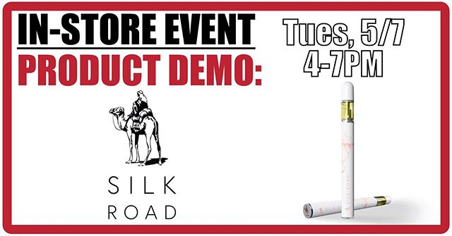 Silk Roads will be here today 4-7pm for a Demo! Come check out their tasty new disposables. 😎 #bloomlove #bloomroomsf #cbd