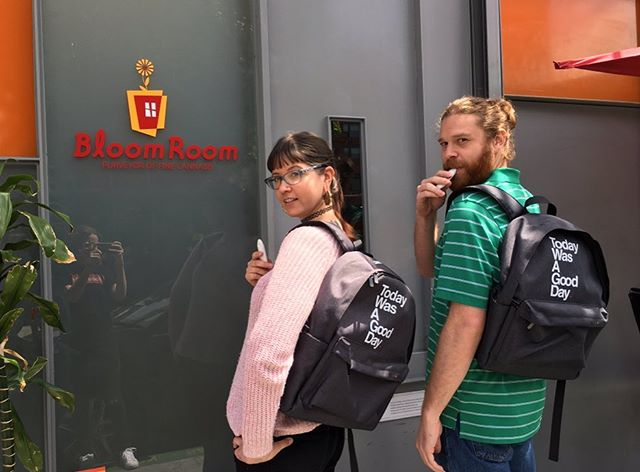 These new backpacks and darts from @thebloom_brand have our staff feeling brand new 😂 #whatdidyalldotothem #brandnew #todaywasagoodday #bloomlove #cannabiscommunity #bloomroomsf
