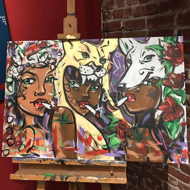 Thank you @urban_picasso_art for live painting & creating this beautiful piece. We really appreciate you! If you missed out on seeing @urban_picasso_art this month, you can always catch him the first Sunday of the month 4-7pm! ✨🎨 #bloomlove #bloomroomsf #liveart #localart