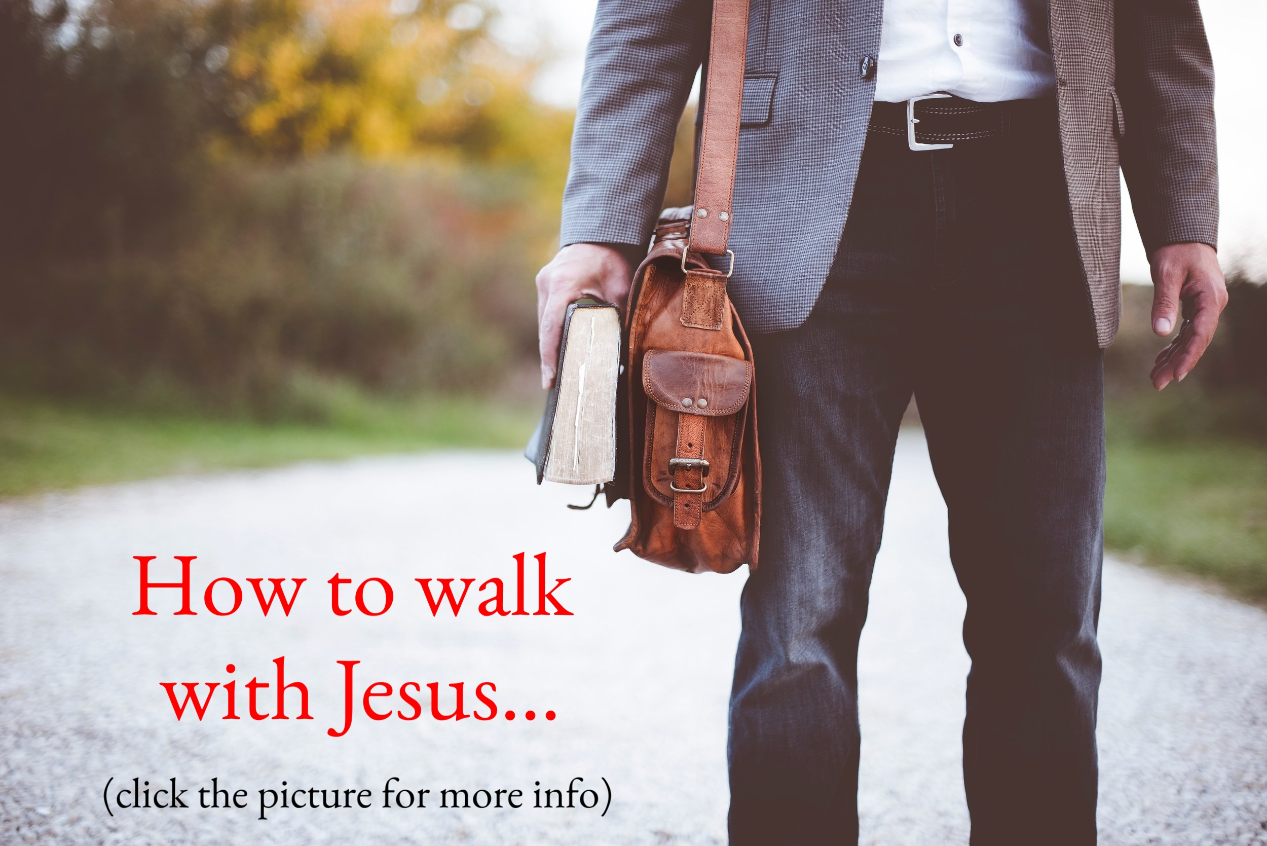 How to walk with Jesus . ( click image for more)