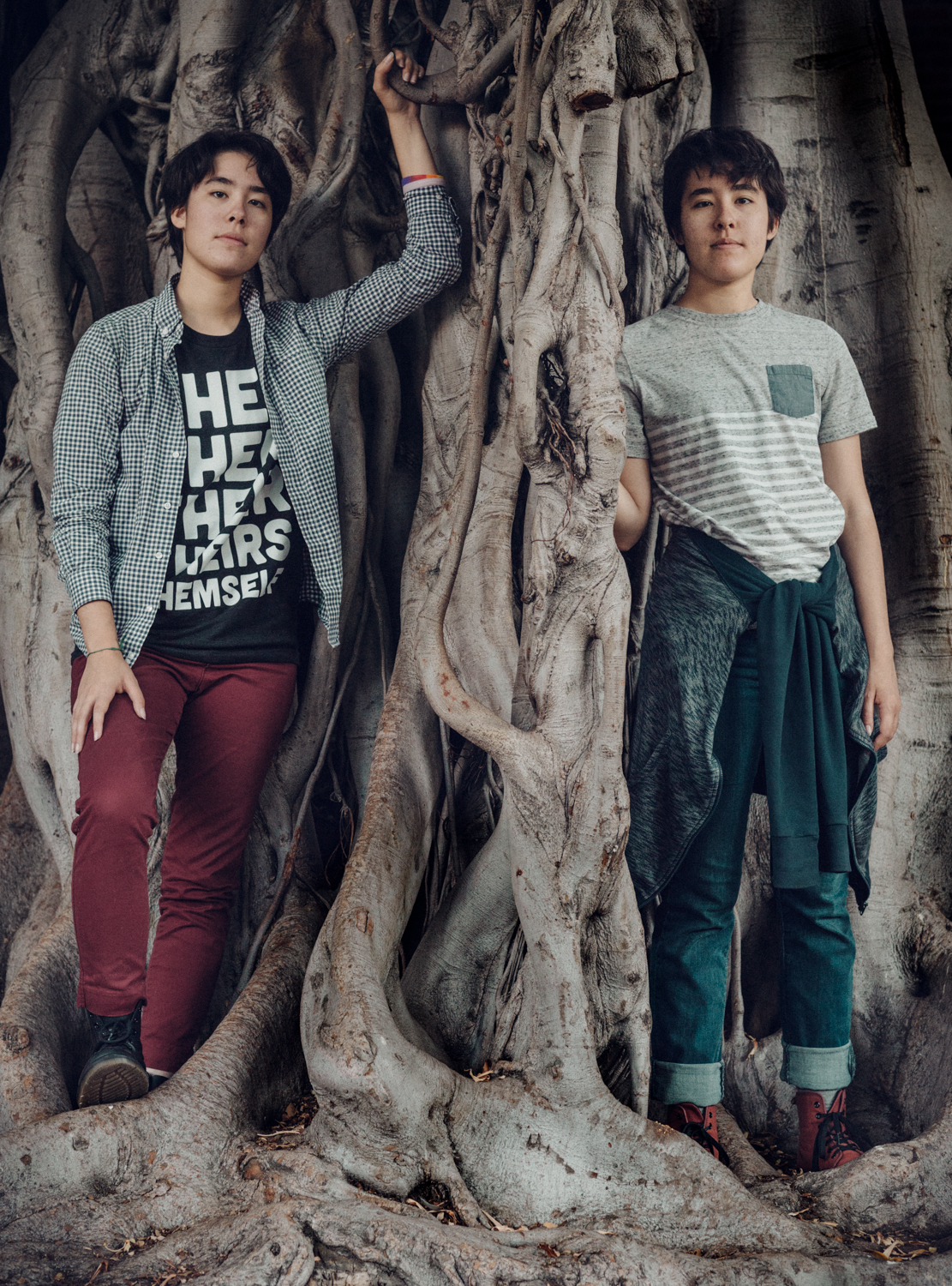 Kyla and Mya, 18, Agender twins, Los Angeles