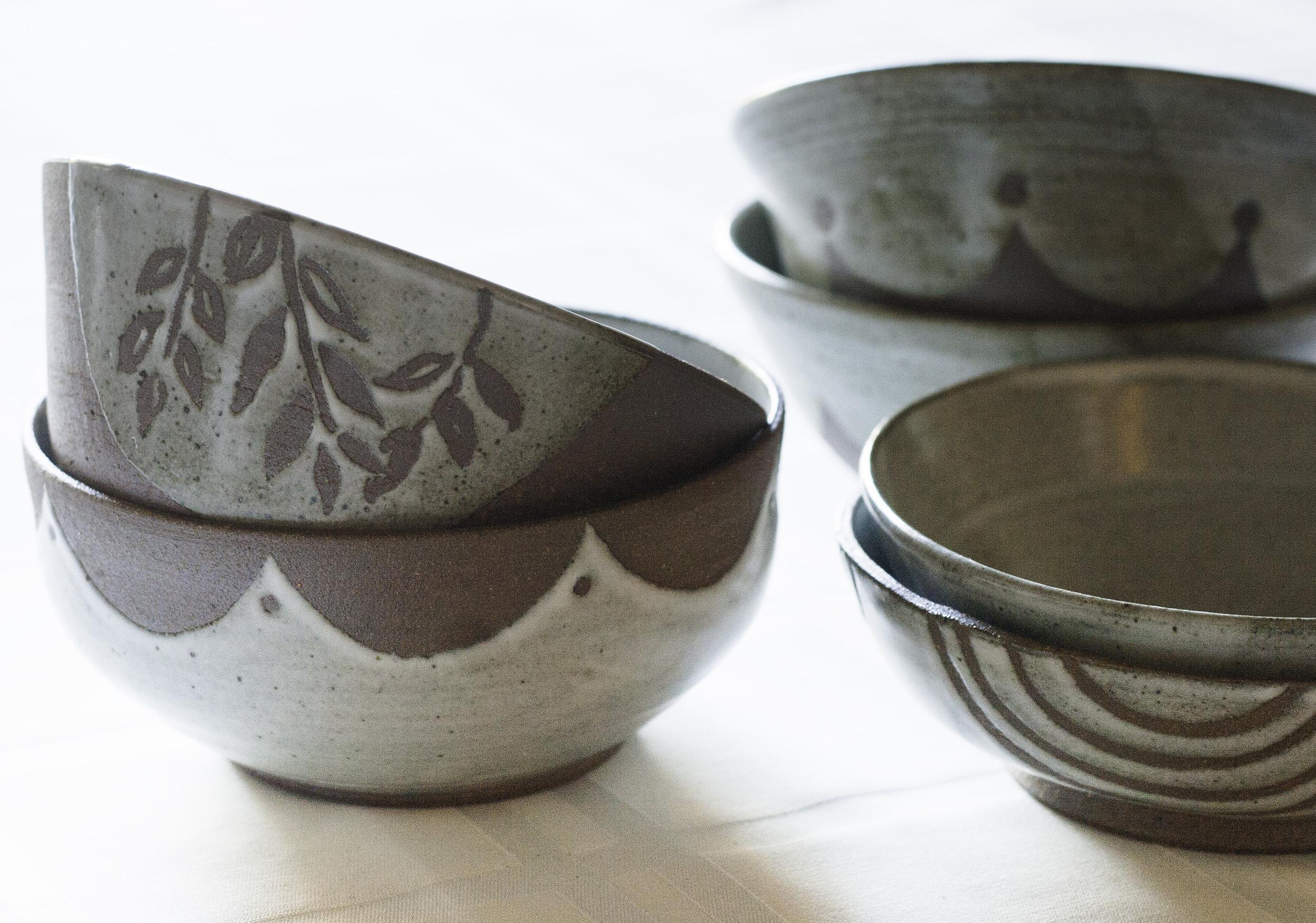 Rustic Bowls - D Pottery