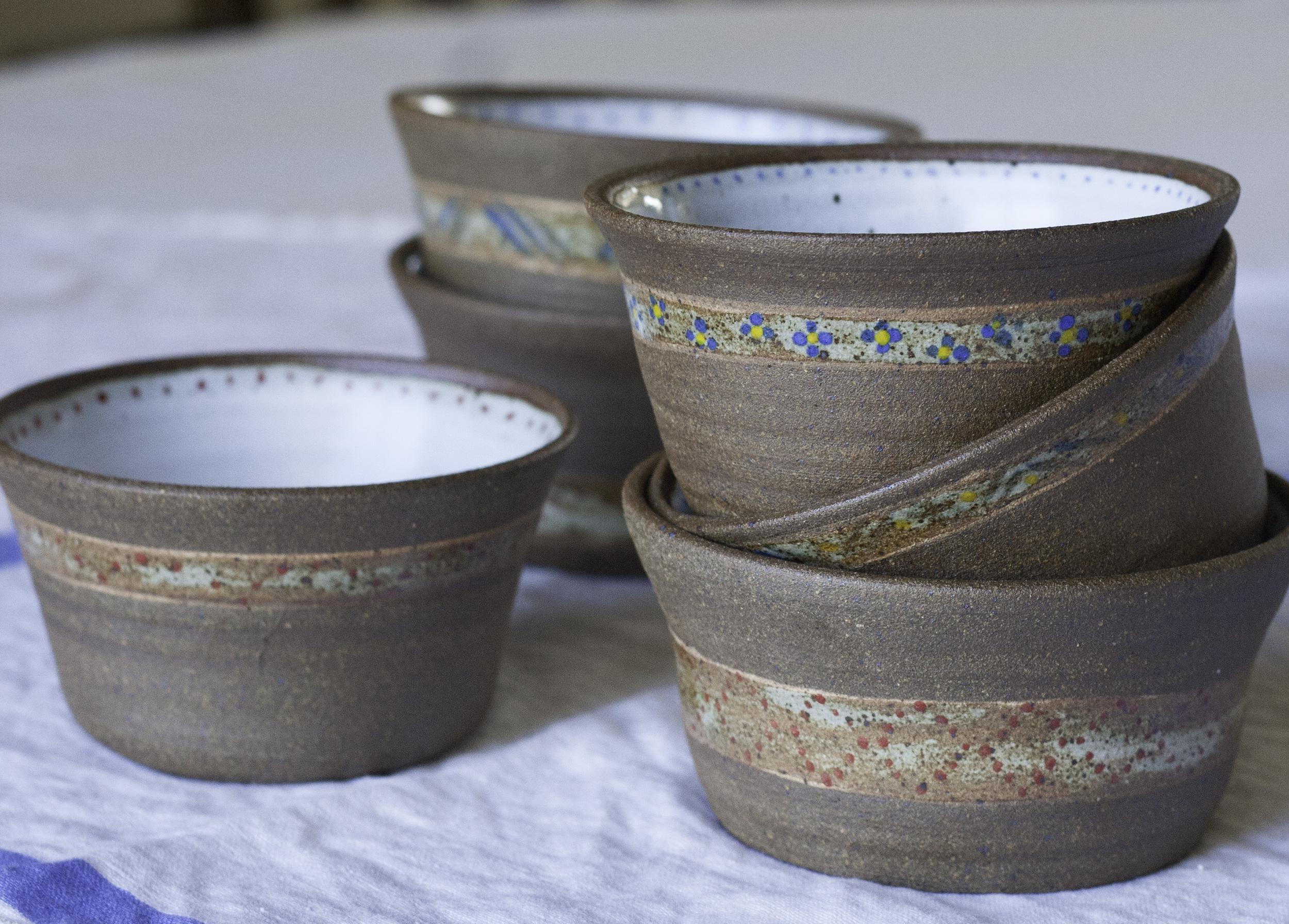 Little Rustic Bowls - D Pottery