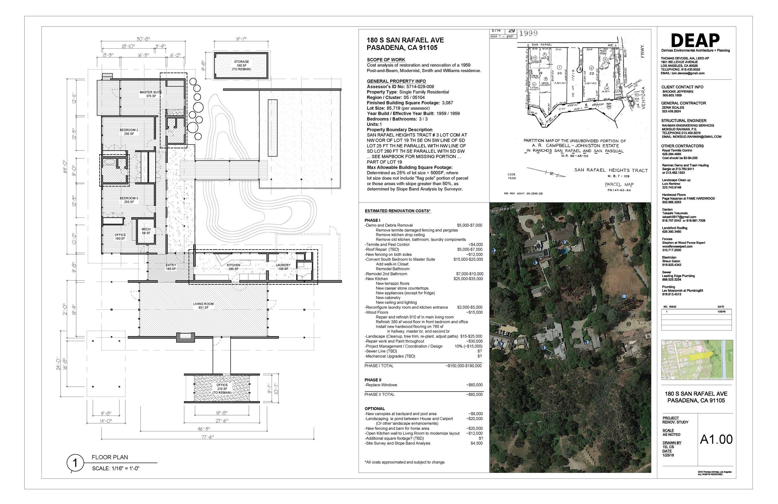 Renovation Study Mid Century Modern Pasadena House Deap