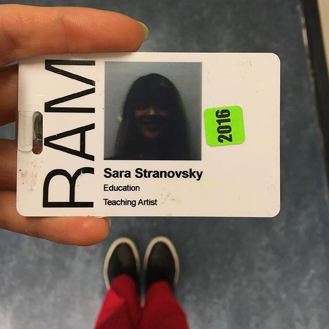 first time ive been ready for a work ID photo and it didn't matter this time. who is that? i tried to direct my own id photo shoot but my new security friend wasnt into it. yay for upcoming discounts at BAM!