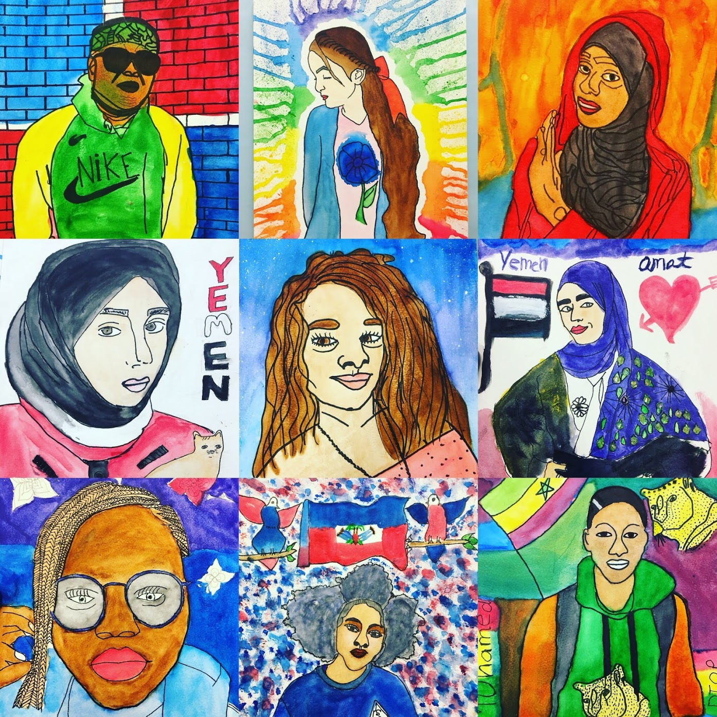 Portraits with Harlem Students