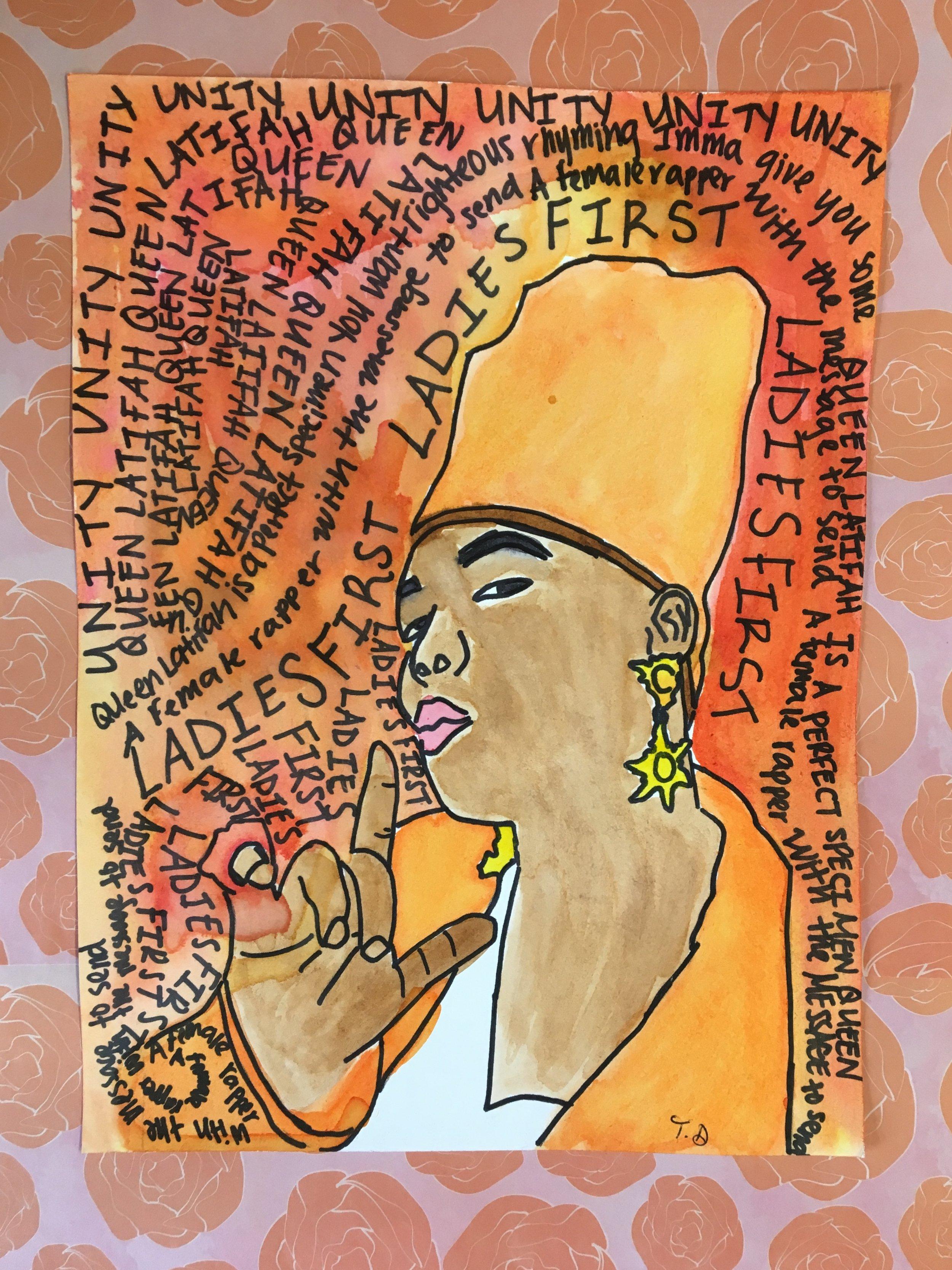 Lyrics and hip Hop Art