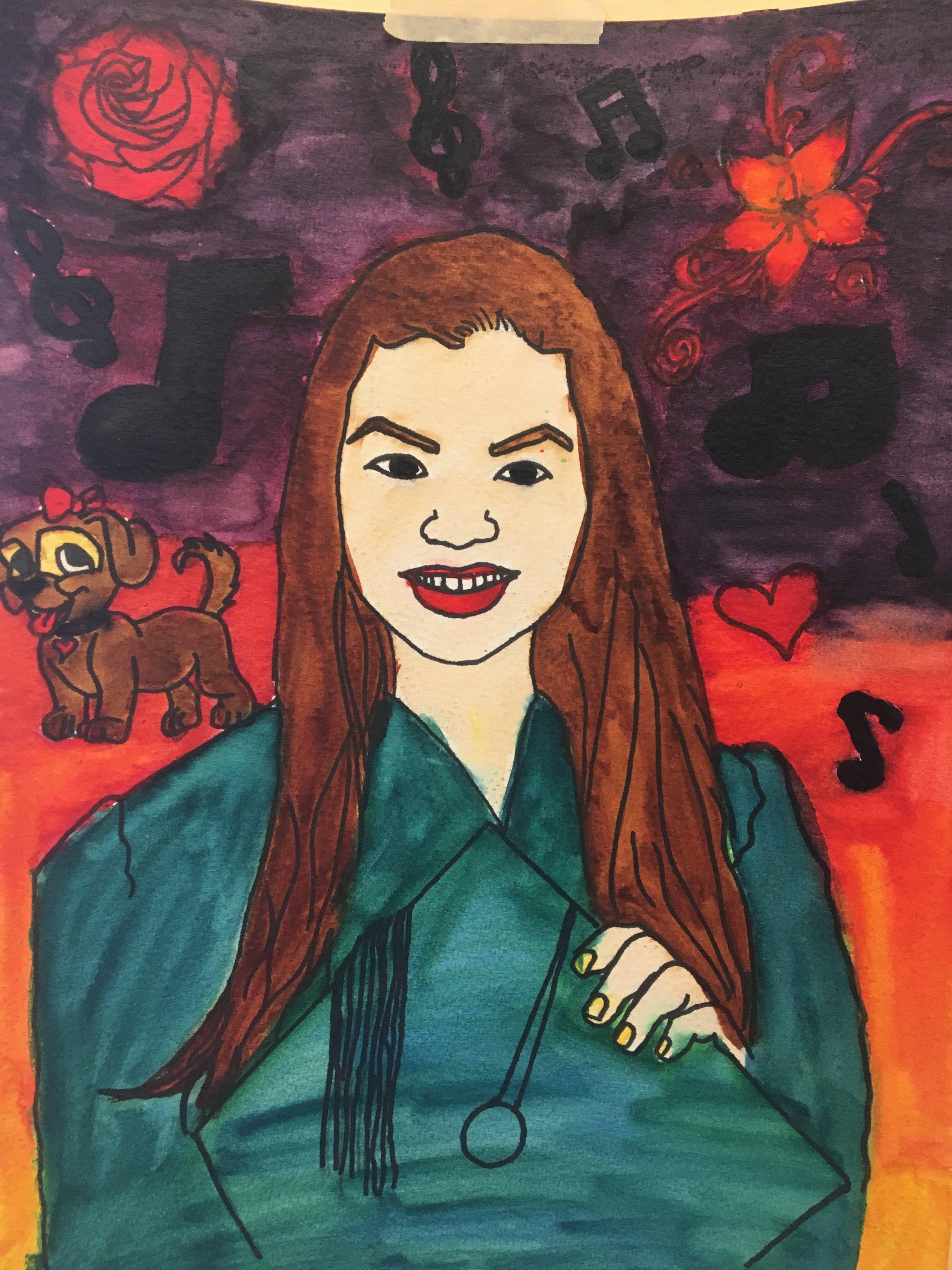 watercolor self portraits