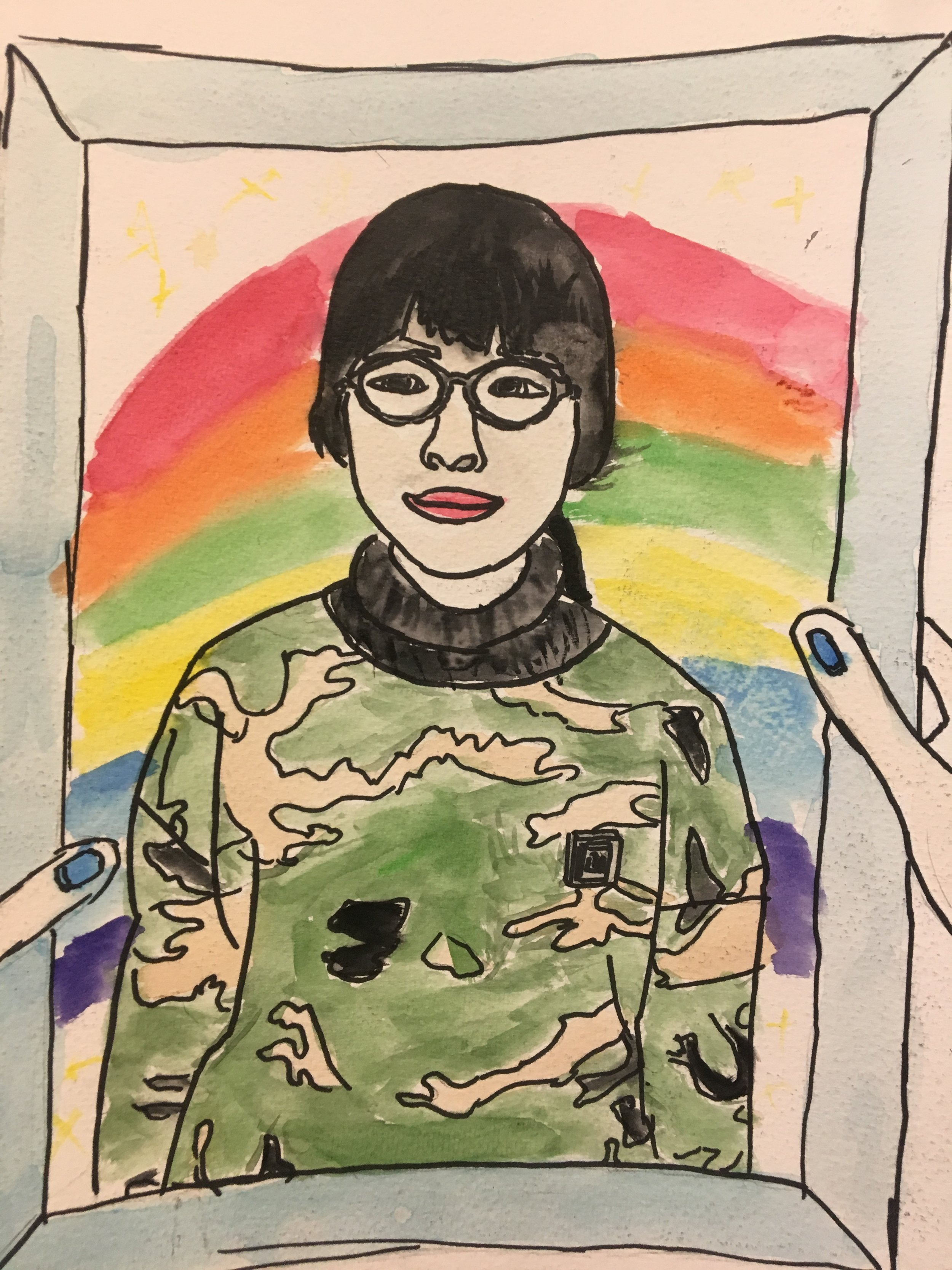 water color Self portraits